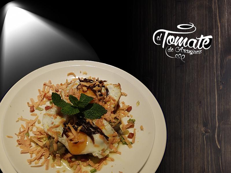 Alcachofas con Foie huevo y cecina